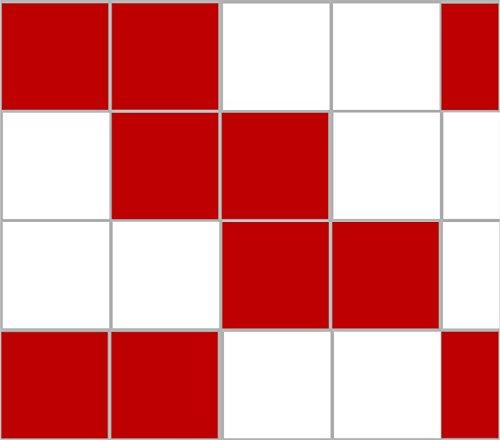 Stickerkoenig Adhesivo para azulejos, decoración para baldosas, 15 x 15 cm, para baño y cocina, 20-300 unidades, 28 colores a elegir, Rojo