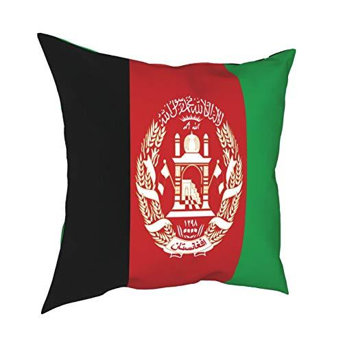 Pillowcase Fundas de Almohada 45x45CM La Bandera de Afganistán. Decoración para el hogar Decoración Oficina Sofá Holiday Bar Café Boda Coche