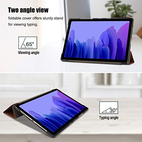 ProCase Hülle für Galaxy Tab A7 10.4 Zoll 2020 (T500/ T505/ T507) Schutzhülle Smart Cover, Ultra Dünn Slim Licht Stand Klappen Schutzhülle –Braun