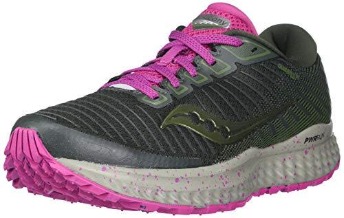 Saucony Women's S10558-25 Guide 13 TR Running Shoe, Pine/Fuchsia - 7.5 M US