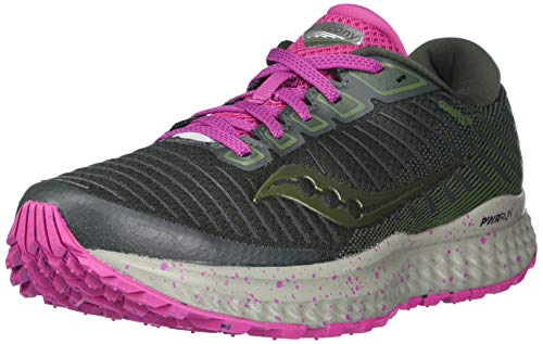 Saucony Women's S10558-25 Guide 13 TR Running Shoe, Pine/Fuchsia - 9.5 M US