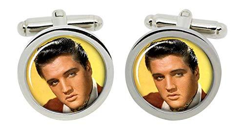 Gift Shop Elvis Manschettenknöpfe in Chrom Kiste
