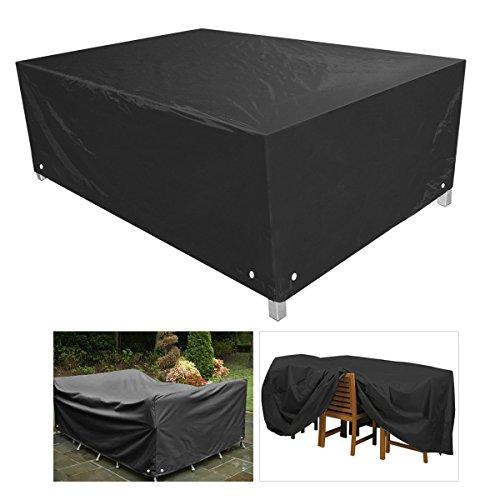 WINOMO Table et chaise d'extérieur étanche à la poussière meubles couvrent bâche affaire 123 * 123 * 74 CM (noir)