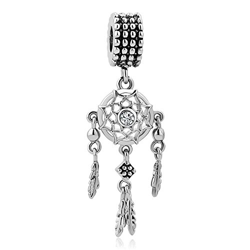 UNIQUEEN Dream Catcher Dangle Charms Beads fit Charm Bracelet