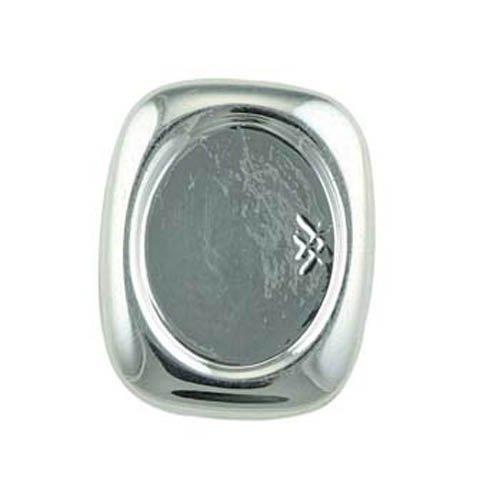 Bead House 10 x 8 mm, verzilverd, vierkante oorstekers zonder boren, 1