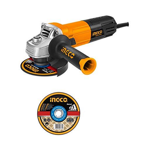 Amoladora angular Ingco 115 mm 950 W con 10 discos y maleta Ingco AG8508-1