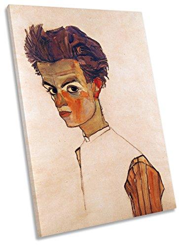 Canvas Geeks Egon Schiele Selbstporträt Leinwanddruck, 40cm Wide x 60cm high