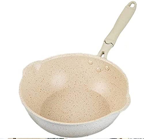 Woks - Padella in alluminio, per uso domestico, senza bastone, pentola da cucina, pentola per la colazione (dimensioni: 20 cm)
