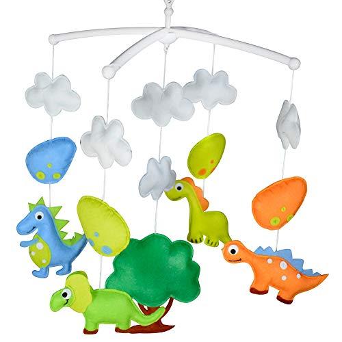 PANDA SUPERSTORE Colorful Dinosauro Foresta Culla Mobile Fatto a Mano Non Tessuto Musicale Mobile del Giocattolo della Greppia della Scuola Materna Room Decor