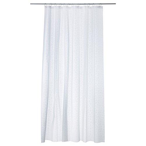 IKEA  0755675336861 INNAREN Duschvorhang, Plastik, Weiß, 180x200 cm