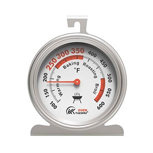 ERUYN Termómetro de refrigerador y congelador, indicador de Temperatura de Acero Inoxidable con Esfera Grande, Color Blanco