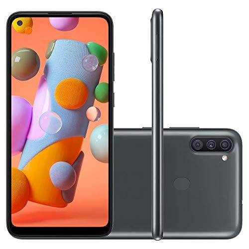Smartphone SAMSUNG A11 Preto 64GB Android 10 Tela 6.4' Camera 13MP