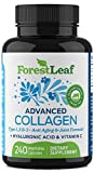 Advanced Collagen Supplement, Type 1, 2 and 3 with Hyaluronic Acid and Vitamin C - Anti Aging Joint Formula - Boosts Hair, Nails and Skin Health - Veggie Capsules - by ForestLeaf (240 Capsules)