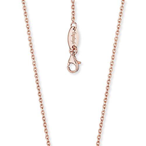 Engelsrufer Damen Brillantkette 925er-Sterlingsilber rosévergoldet Länge 45 cm + 3 cm Stärke 1,9 mm