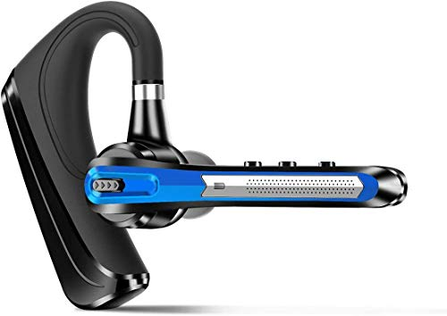 HonShoop Bluetooth Headset CVC8.0 Dual Mic Rauschunterdrückung - Wireless Bluetooth-Ohrhörer Super Power V5.0 Freisprech Kopfhörer für iPhone Android Handys Fahren Trucker Office Business(Blau)