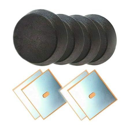 Für 3er E36 Aufnahme Hebebühne Wagenheberaufnahme 4x Gummiblock Adapter 4x Schweißblech 155x155x1 5mm Auto