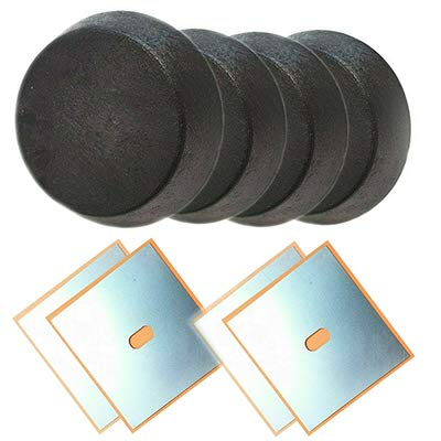 voor 3-serie E36 opname hefbrug krik 4x rubberen blok adapter 4x lasplaat 155x155x1,5 mm