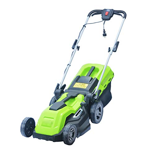 Best Bargain 1500W Electric Grass Trimmer Hand Push,5 Levels Mowing Height Adjustable and 40L Collec...