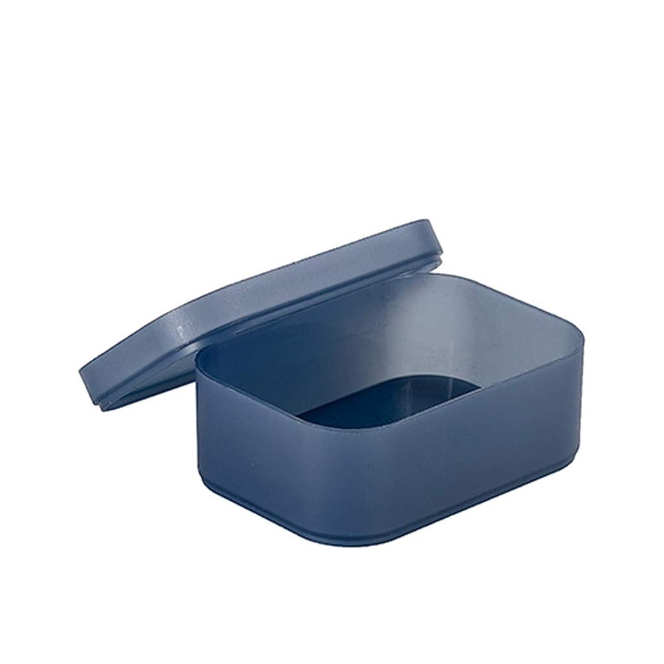 噴出するクローンサンダース収納ボックス 蓋付き 重ね合わせ可 透明 大容量 卓上 多機能 収納ケース 化粧品収納 文房具収納 リモコンラック 事務用品 オフィス用品 机上用品 収納用品 メイクボックス コスメ道具入れ 小物入れ プラスチック シンプル ブルー