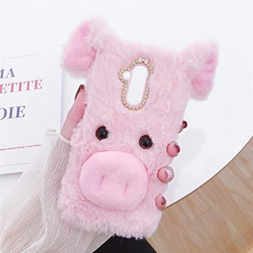 ZYQ Rosado 3D Pig Style Funda Caso TPU Silicona Case para Hisense F23 Gel Shell Carcasa Protección Cover…
