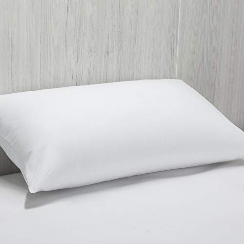 Pikolin Home Almohada de Fibra antiácaros de firmeza Media y Alta con Funda extraíble Transpirable, Recomendada para Dormir de Lado o Boca Arriba, Blanco, 60 x 40 cm