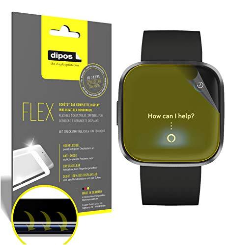 dipos I 3X Schutzfolie 100% passend für Fitbit Versa 2 Folie I 3D Full Cover Displayschutzfolie
