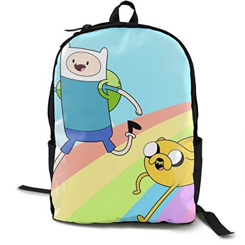 Adventure Time Rucksack, Daypack Tagesrucksack Für Schule, Arbeit Und Uni, Sportrucksack Und Schultasche Mit Laptopfach Und Rückenpolster