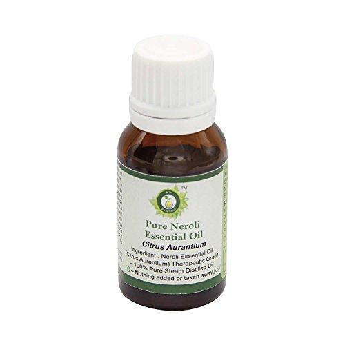 R V Essential Neroli pura esencial 10ml de aceite (0.338 oz)- Citrus aurantium (100% puro y natural de Grado Terapéutico) Pure Neroli Essential Oil