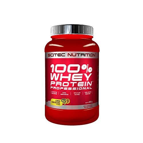 Scitec Nutrition 100% Whey Protein Professional con aminoácidos clave y enzimas digestivas adicionales, 920 g, Limón-Tarta de queso
