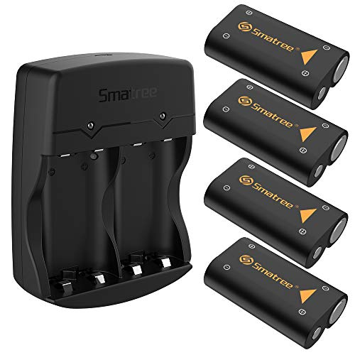 Smatree 4x2600mAh Rechargeable Battery Pack Compatible with Series X S /Xbox One/Xbox One S/Xbox One X/Xbox One Elite Controller(4 Pack)