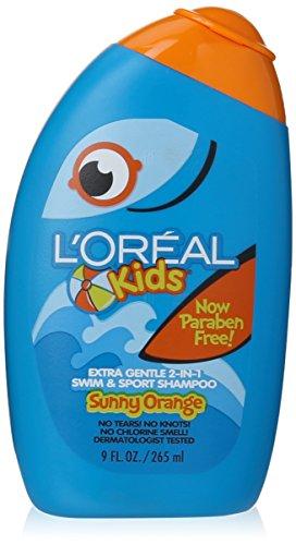 L'Oreal Paris Kids Extra Gentle 2-in-1 Shampoo, Sunny Orange Swim, Citrus, 9 Fl Oz