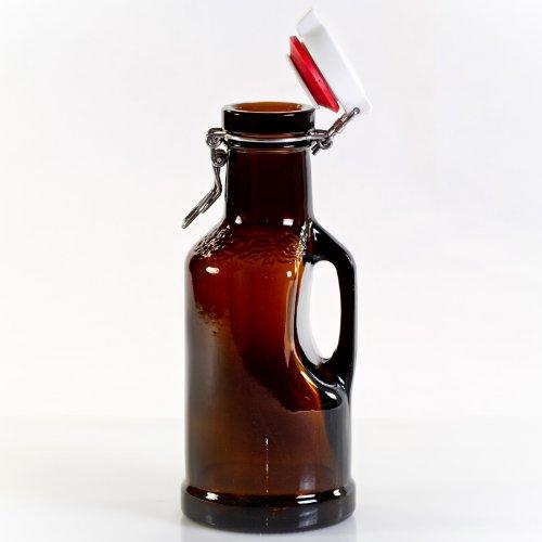 Hopfenkrug 1,0 Liter braun BIERSIPHON