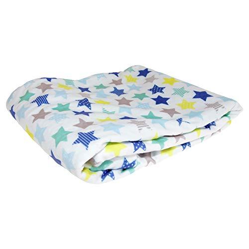 Snuggle Baby - Châle STAR - Bébé (75 cm x 100 cm) (Bleu ciel)