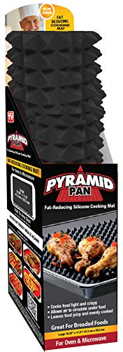 Pyramid Pan Grill Mat, Silicone Baking Mat, Non Stick Silicone Baking Sheet, for Oven and Microwave, Dishwasher Safe, 16.25 inch x 11.5 inch