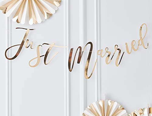 Ginger Ray Gold Foiled Just Married Hochzeitsdekoration