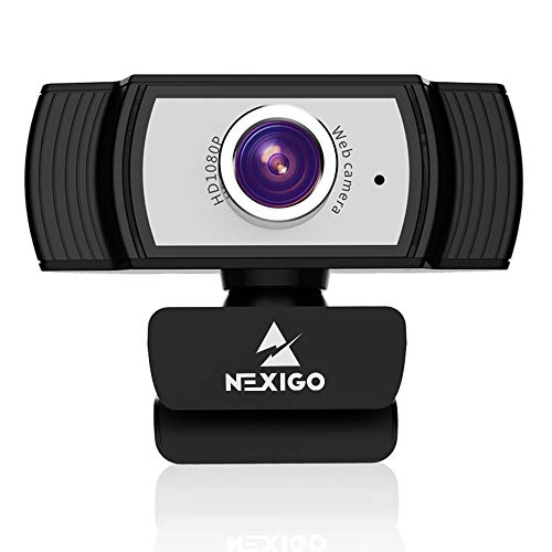 1080P Webcam with Microphone and Software, 2021 NexiGo Streaming Computer Camera, for Zoom Meeting/Skype/FaceTime/Teams/OBS/Xbox/XSplit, Compatible with Mac OS Windows Laptop Desktop PC