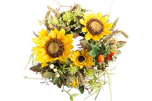 Reinhold künstlicher Sonnenblumenkranz klein ca. 22 cm Durchmesser