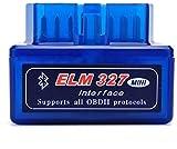 OUTLETISSIMO® Elm 327 Mini interfaz OBDII Bluetooth antorcha diagnóstica 16 pines versión 2.1A Android