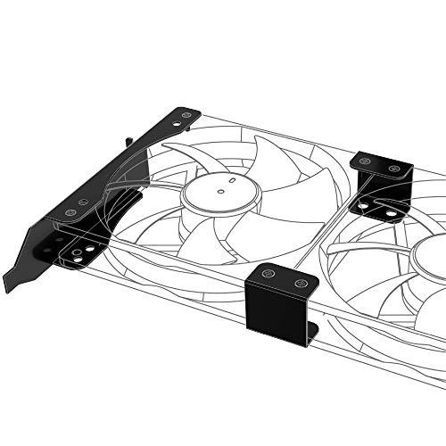 Akasa PCI-Slot Montagesystem für Lüfter - 120mm