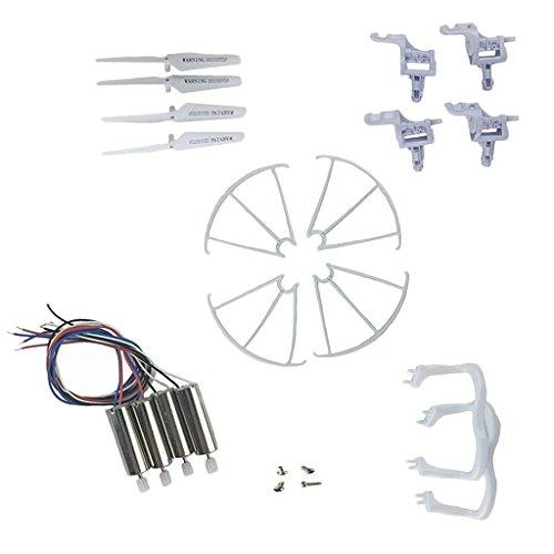 JRUIAN Juego de 18 Piezas de Motores de cuadricóptero, Kit de Piezas para Accesorio de dron Syma X5 X5C