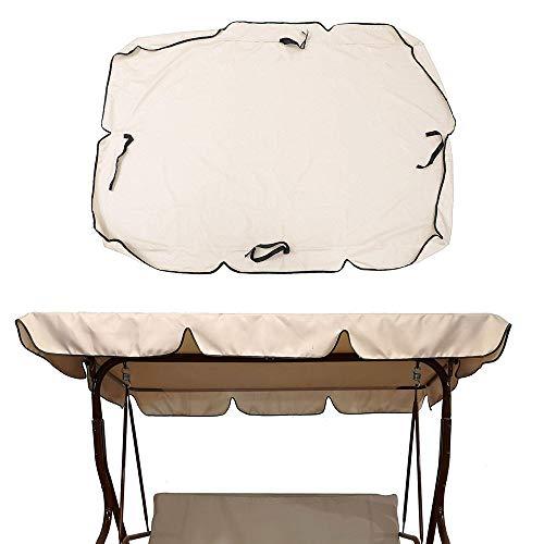 Cubierta superior de repuesto para toldo de Nobrand, para jardín de 2 y 3 plazas, Beige 142 x 120 cm.