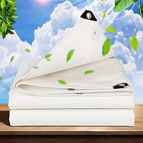 Vela de Sombra Blanca,Paño de Sombra Impermeable,Red de Protección Solar para Exteriores,Anti-Aging,Anti-UV,Material-PVC,Ventilación,Disponible para Patio,Fiesta,Piscina,2x2m,3x4m,5x5m