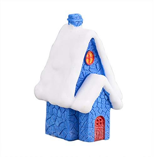 Ardorlove Kerst Sneeuwhuis - Kerst Sneeuw Dorp Gebouw - Europese Stijl Huis Unieke Kamer Voor Kleuterschool Kinderen - Kerst ambacht geschenken, hars, Candy Kleur
