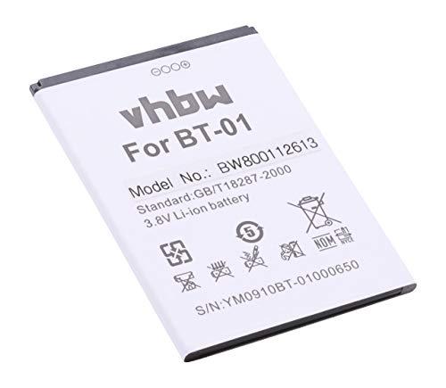 vhbw Li-Ion Akku 2700mAh (3.8V) für Handy Smartphone Telefon THL T100, T100s, T11 wie BT-01.