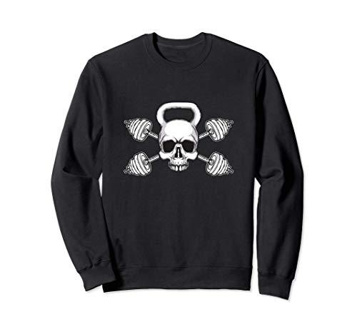 Kettlebell Skull Barbell Weights-Übung Sweatshirt