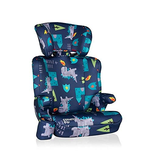 Cosatto Ninja Child Car Seat - Group 2/3, 15-36 kg, 4-12 years, High Back Booster, 6 Headrest Positions, Belt Fitted (Dragon Kingdom)