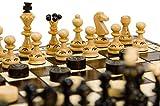 Juego de damas y ajedrez de madera perla de 14