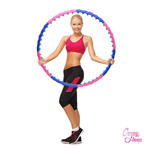 Ocean 5 Crazy Hoop Magnetic Pro Hula Hoop Reifen, mit Massage Magneten 1,1kg Bauchtrainer, Fitness und Abnehmen