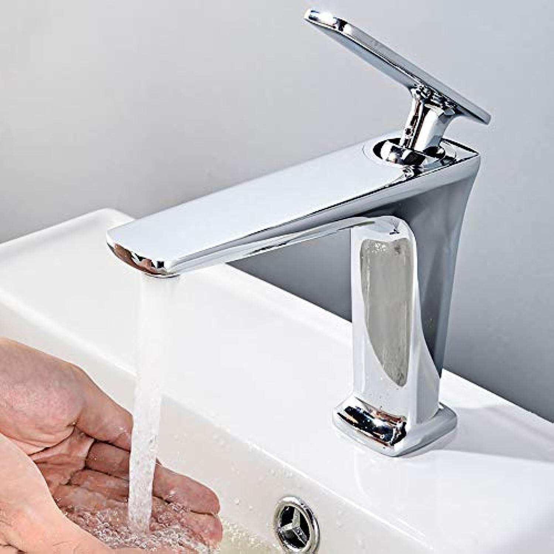 BILLY'S HOME Handelsbadezimmer-Wannen-Hhne, moderner einzelner Griff-Einloch-Bassin-Hahn hergestellt von der festen einfachen MessinginsGrößetion,Chrome
