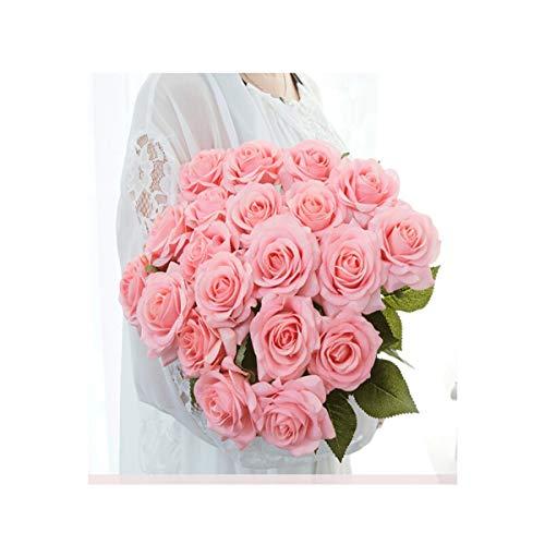 HENG Artificial Rose Boeket (10 koppen), decoratieve bloem/zijden bloem/gedroogde bloem boeket - geschikt voor woonkamer/binnen/bruiloft partij decoratie, (vier kleuren optioneel) voor gebruik in huis O